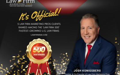 Law Firm Marketing Pros Announces Five Clients Named to 2020 Law Firm 500 List