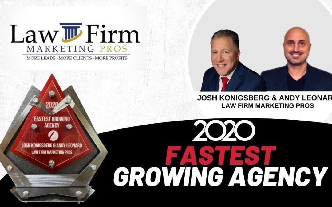 Law Firm Marketing Pros Win Fastest-Growing Agency Award
